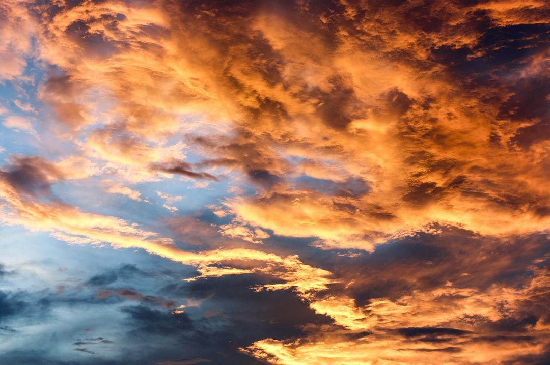 Get Sunset Cloud Background