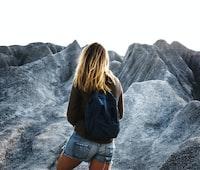 woman walking on terrain