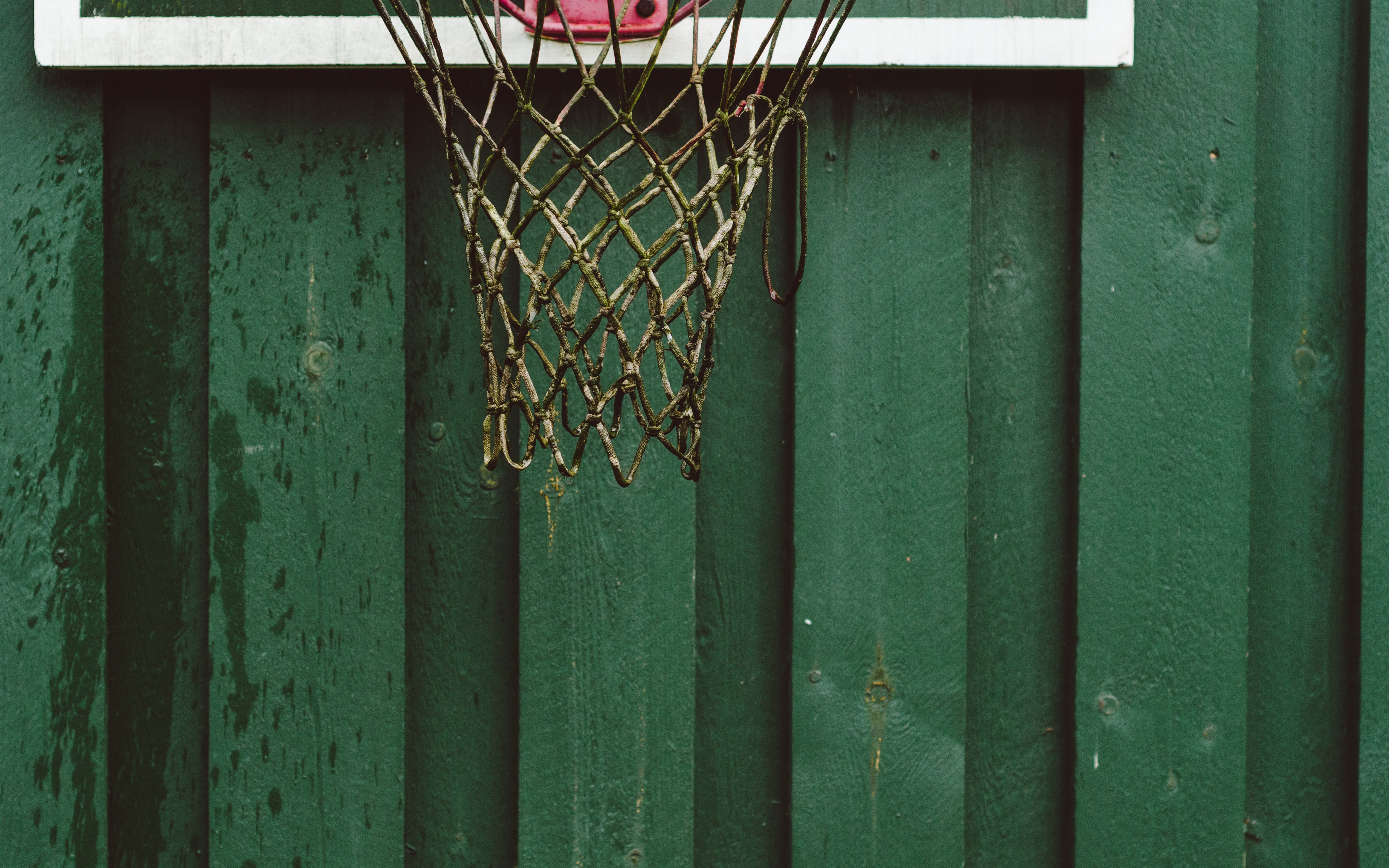 white basketball net