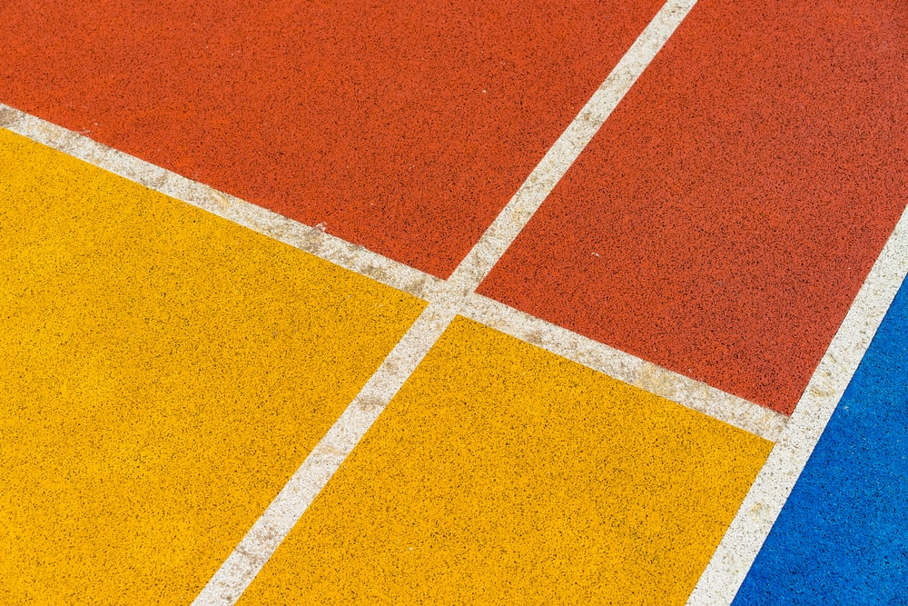 yellow and orange flooring