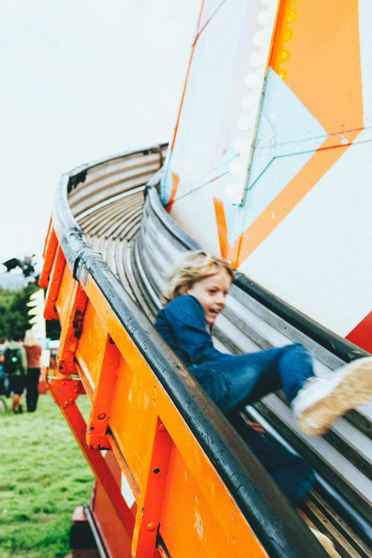 girl on slide