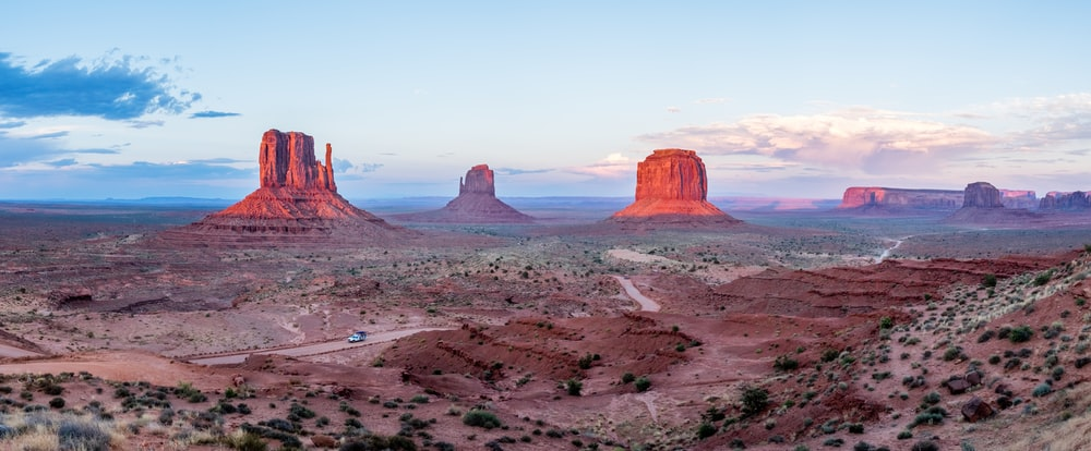 landscape photograph of canyonds