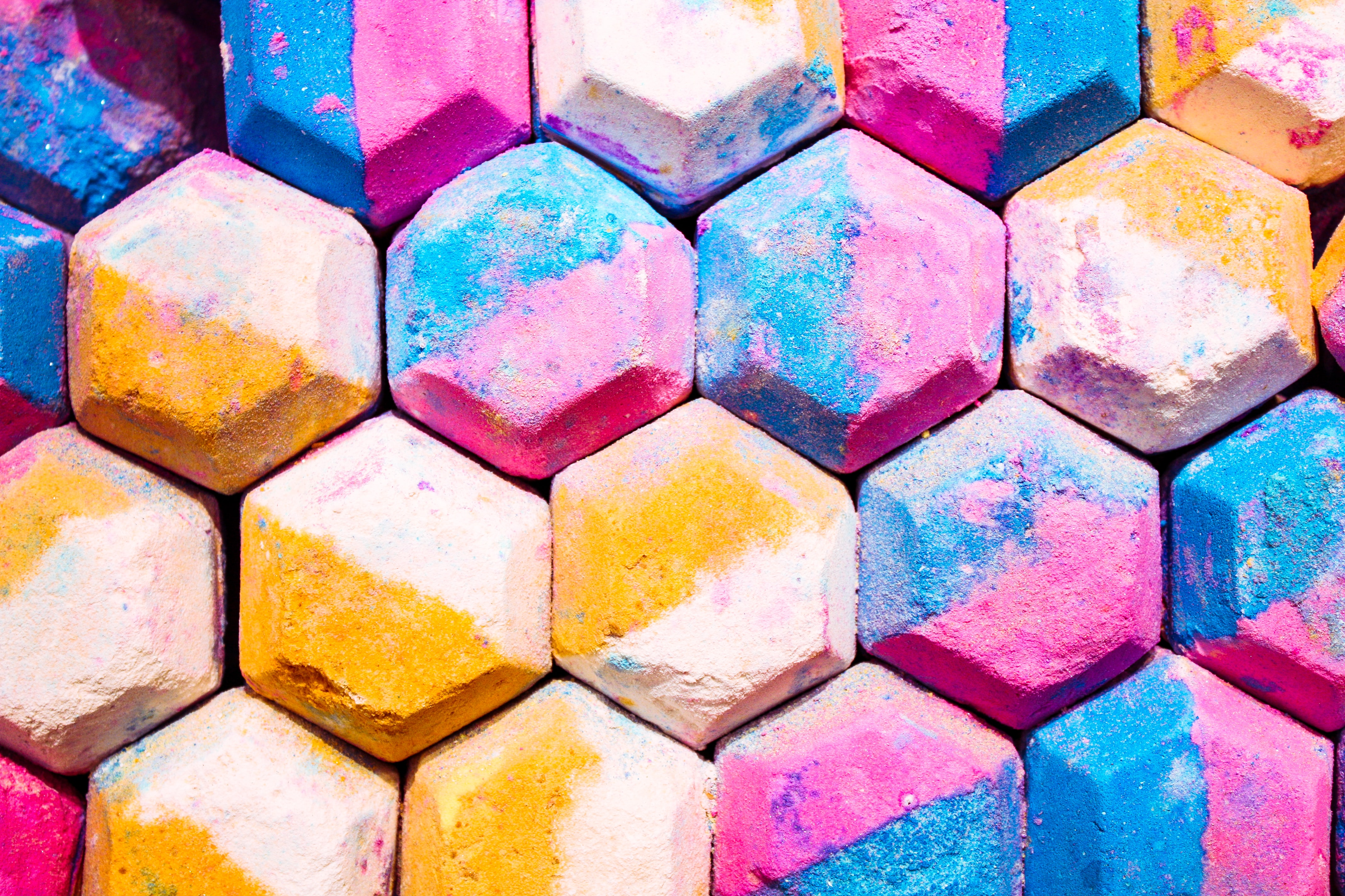 multicolored honeycomb wall