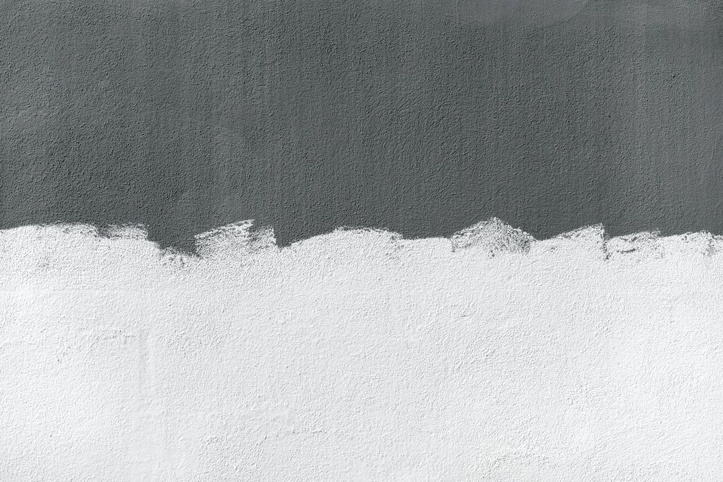 image of wall painted gray and white