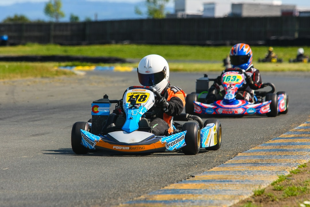 This is my son finishing the last lap of a 6 race, three city racing series.  He finished first through a combination of effort, tenacity and results.