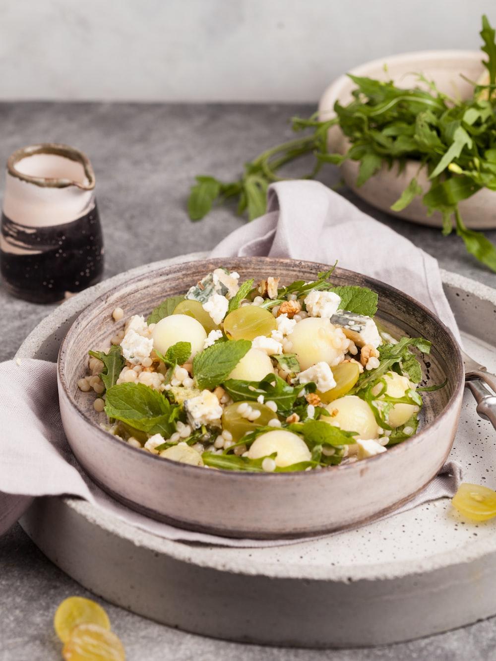 salad dish in bowl food photography
