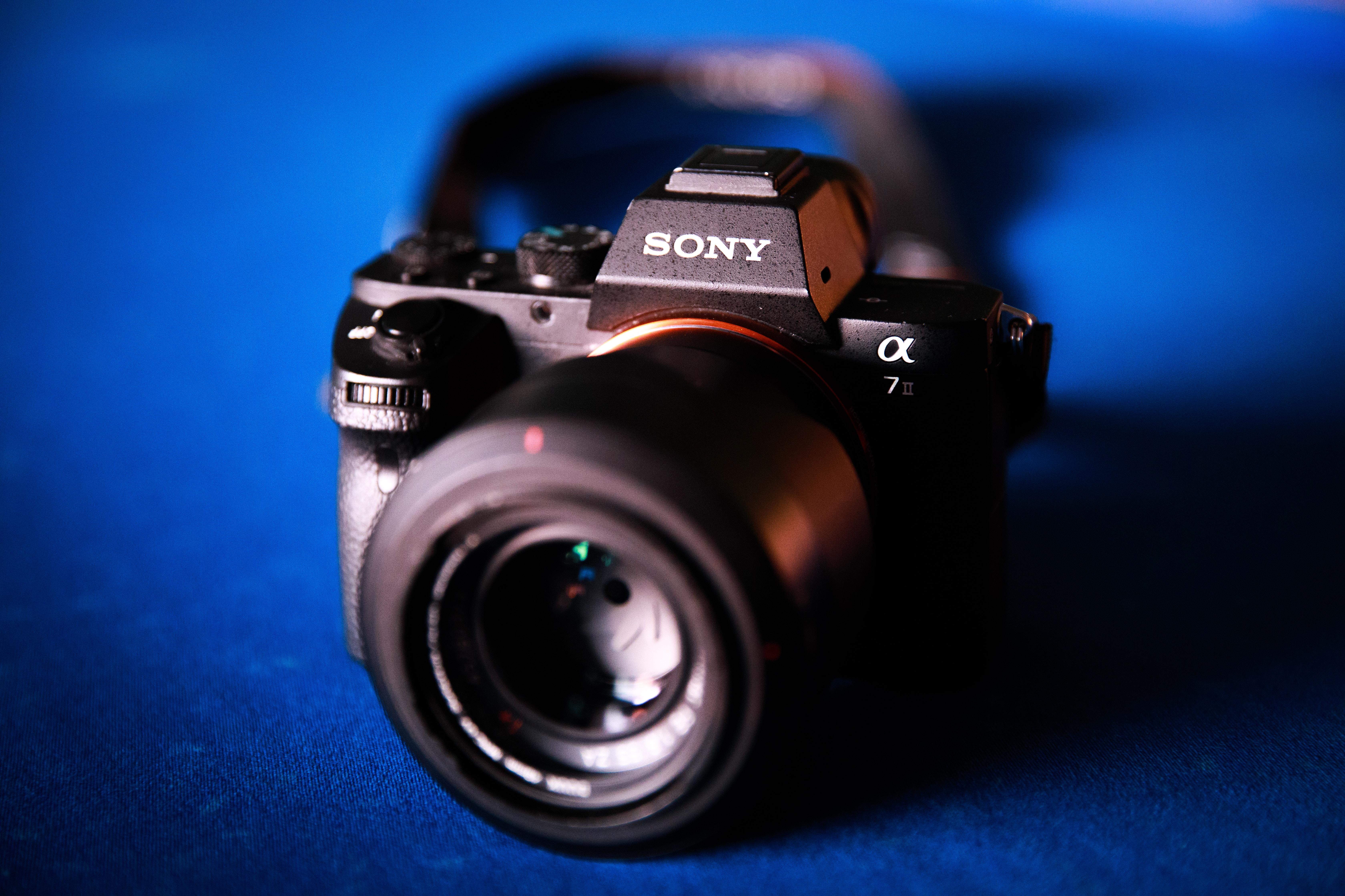 black Sony Alpha camera