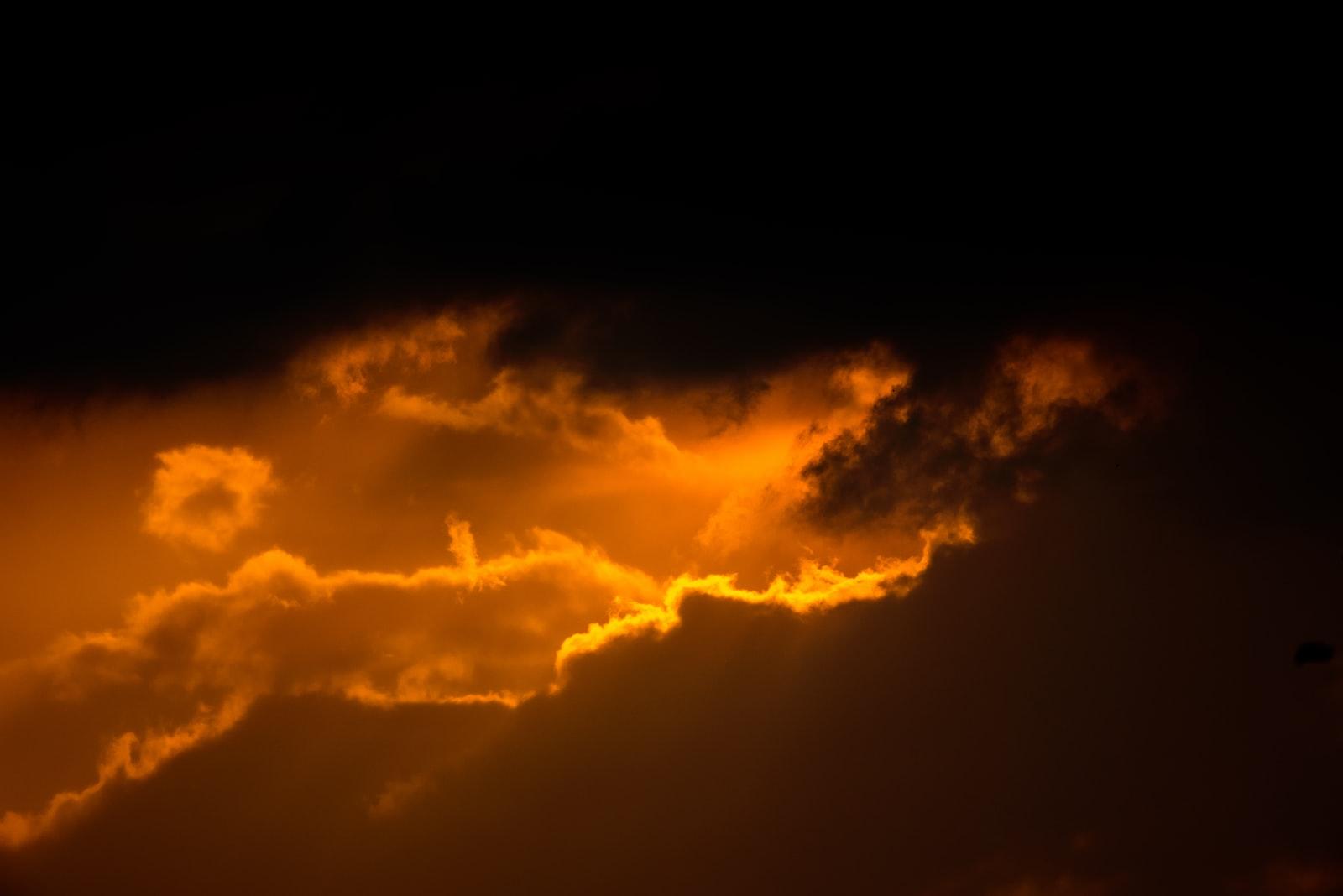 "Nikon D750 sample photo. ""Orange sky and cloud"" photography"