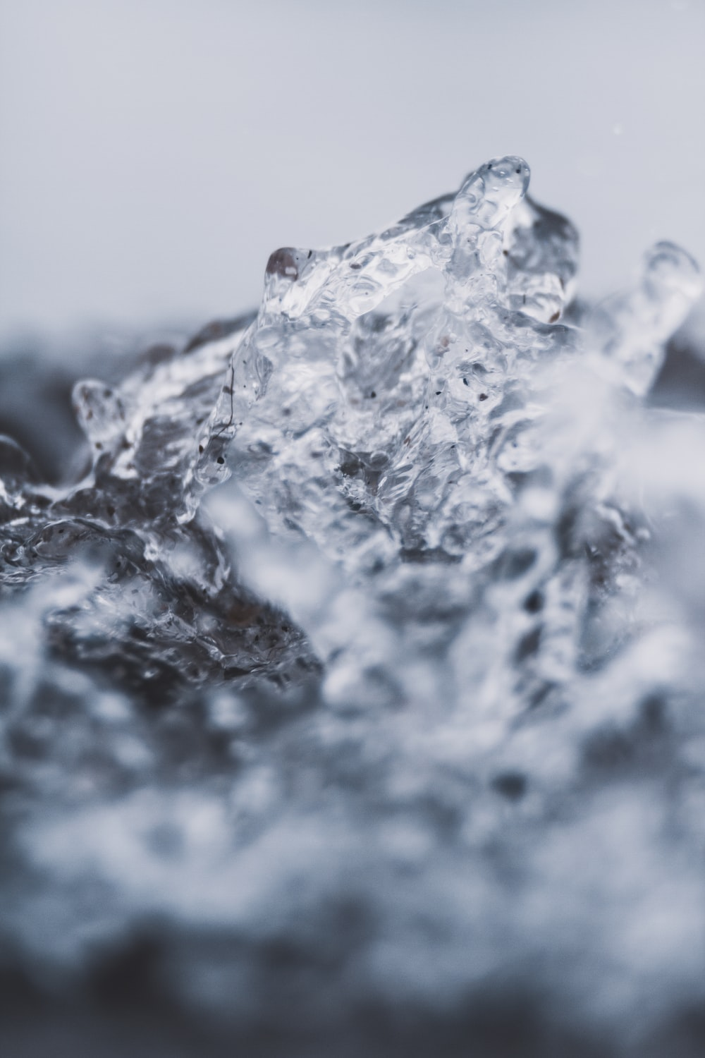 clear ice in macro photography