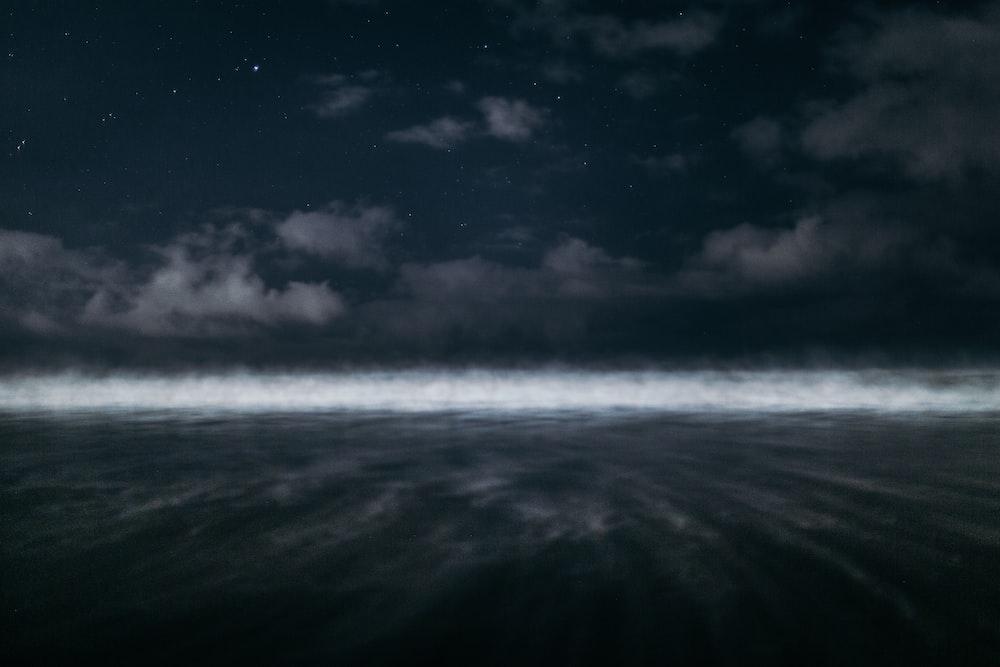 white fog during nighttime