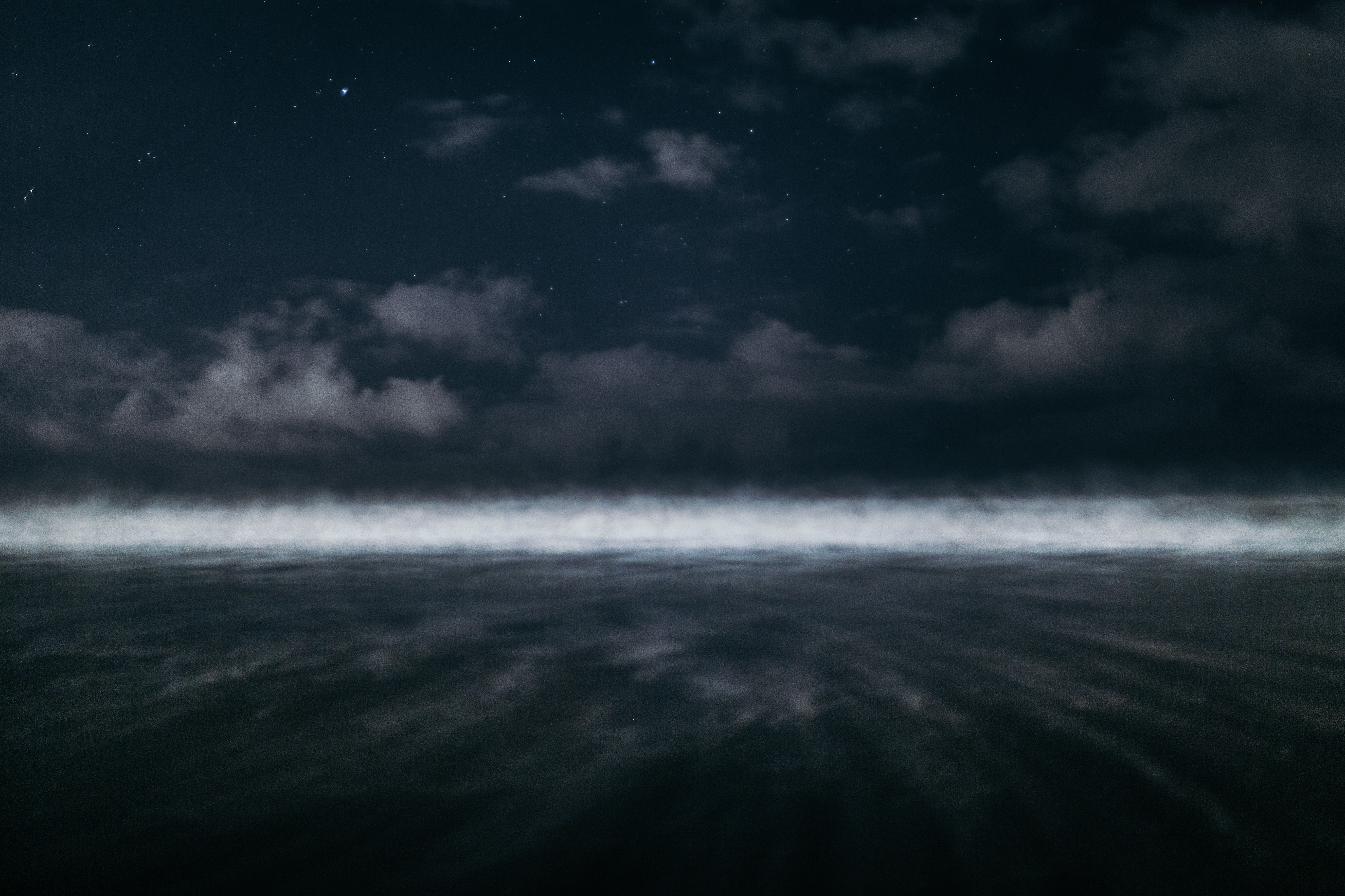 white fog during nighttime