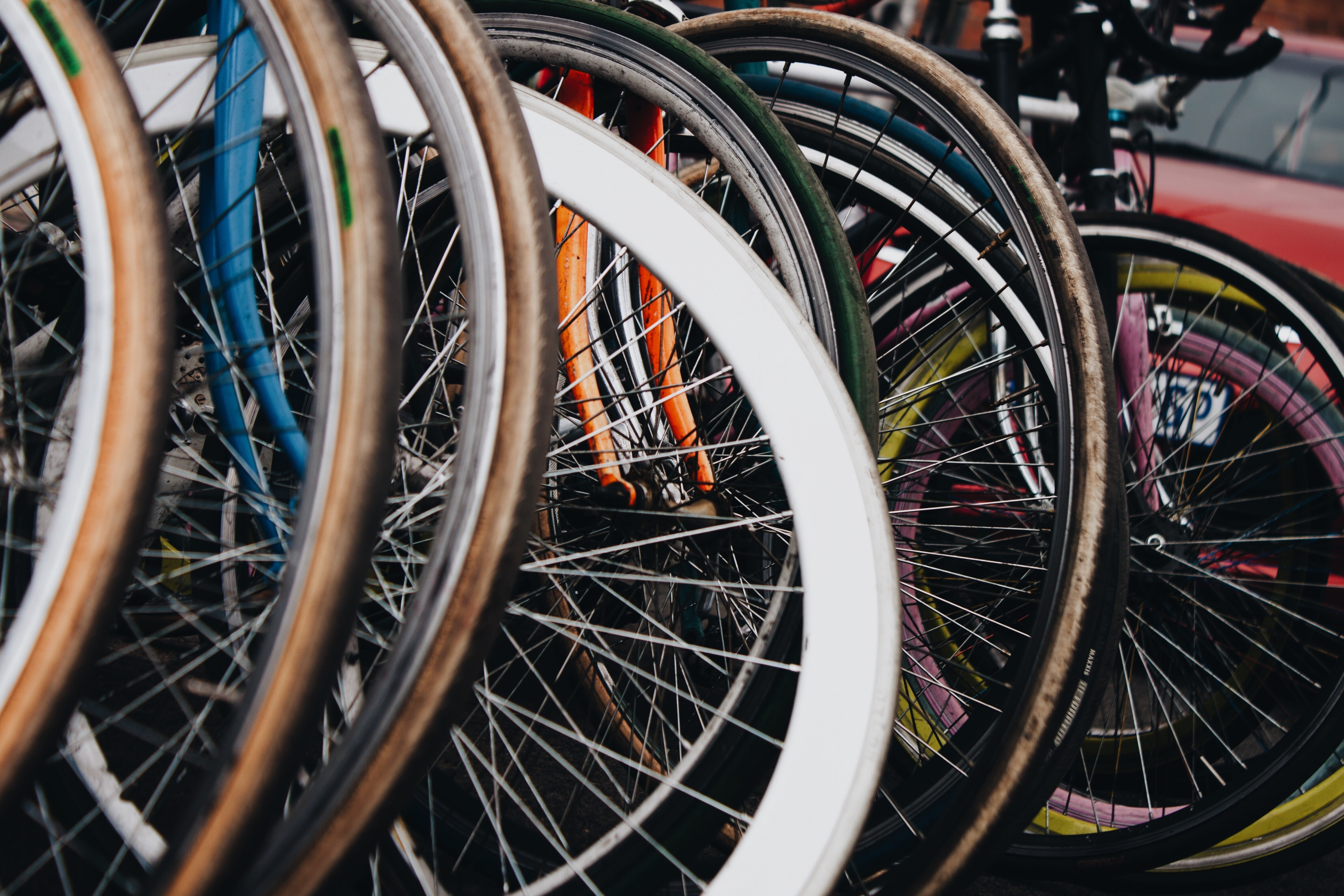assorted bicycles