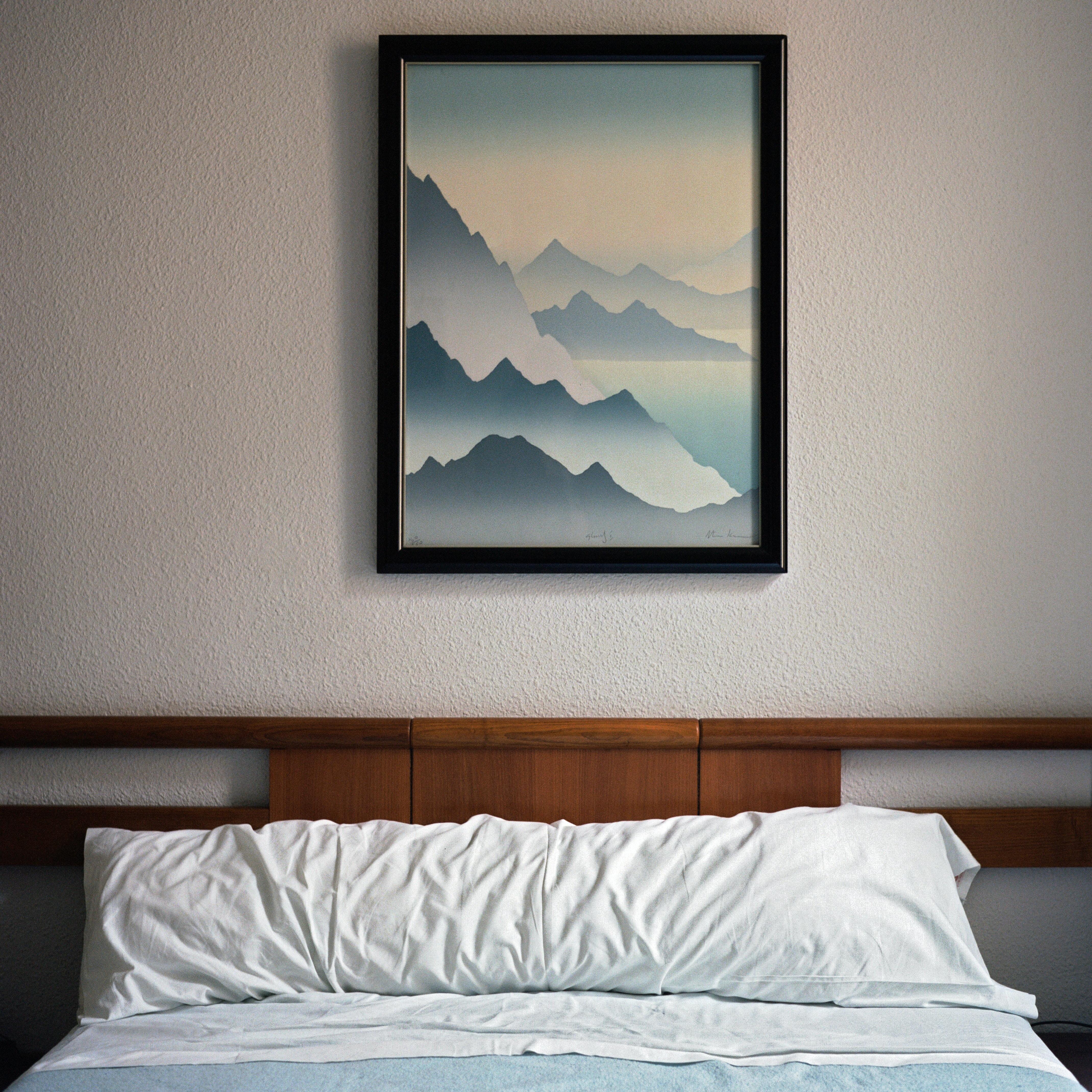 black wooden framed decor