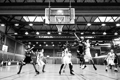 grayscale basketball players basketball zoom background