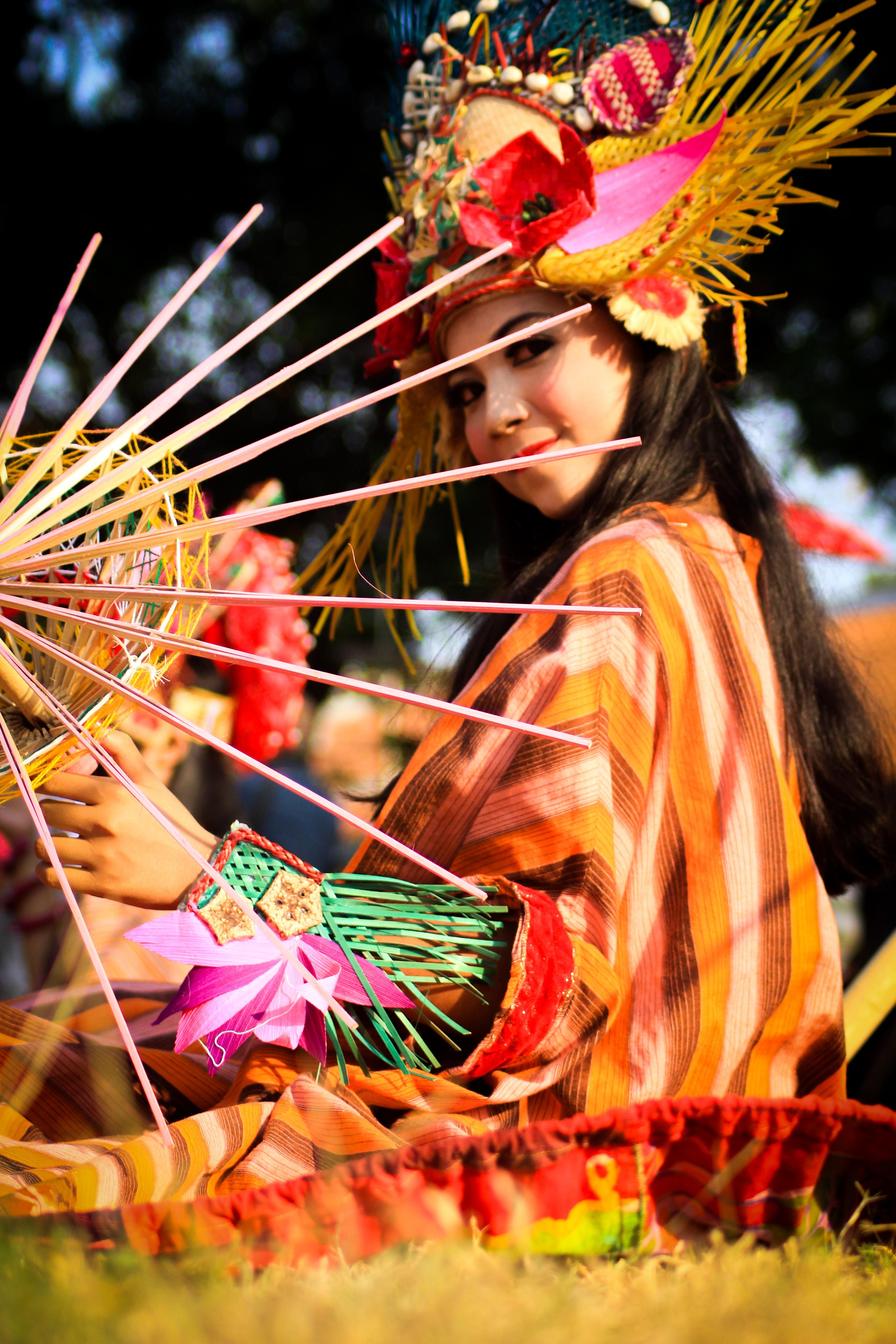 woman on festival