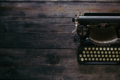Antique Typewriter on Dark Wood