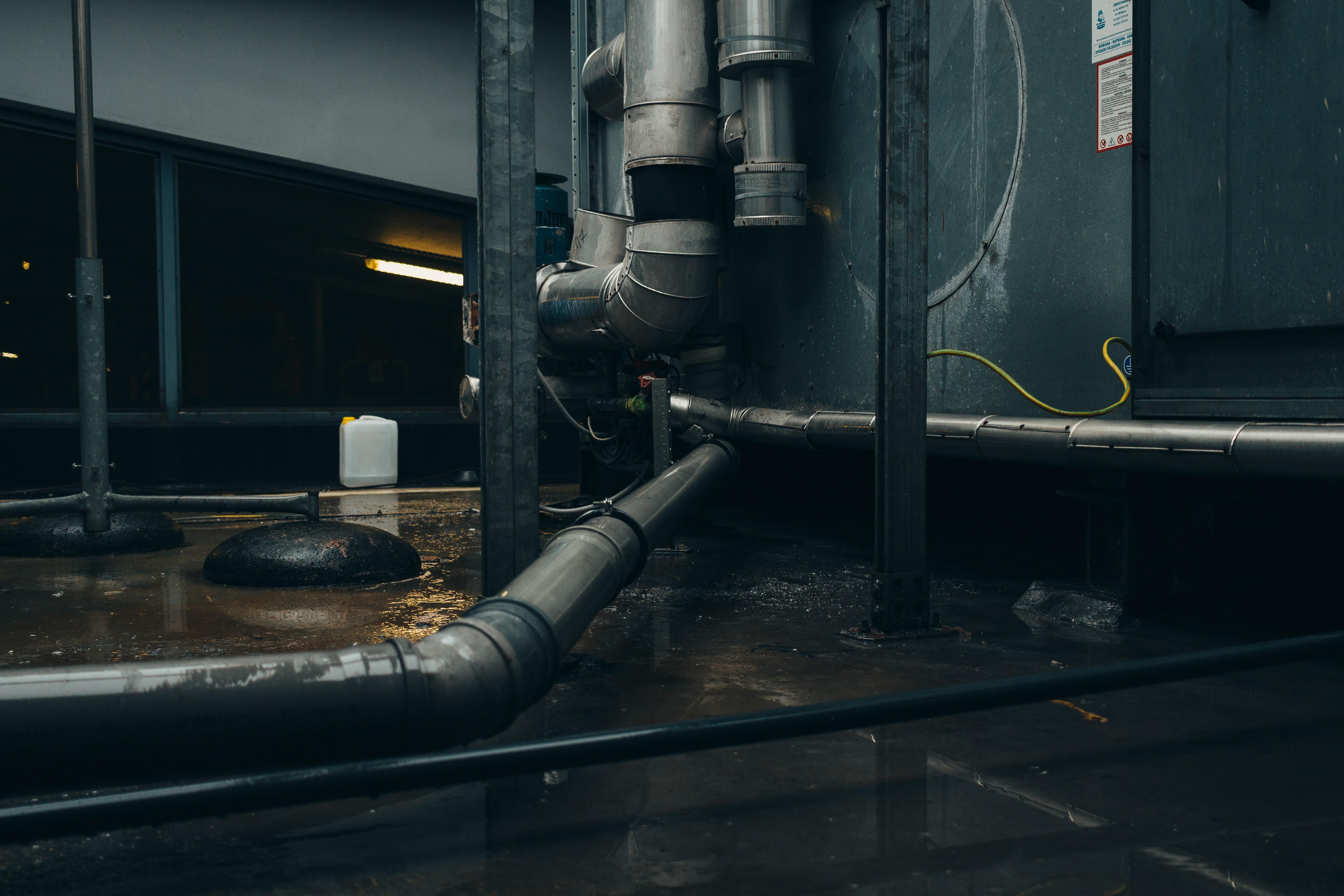 gray steel pipe