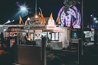Corn Dogs food kart beside carnival