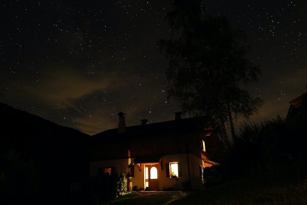 lighted house light