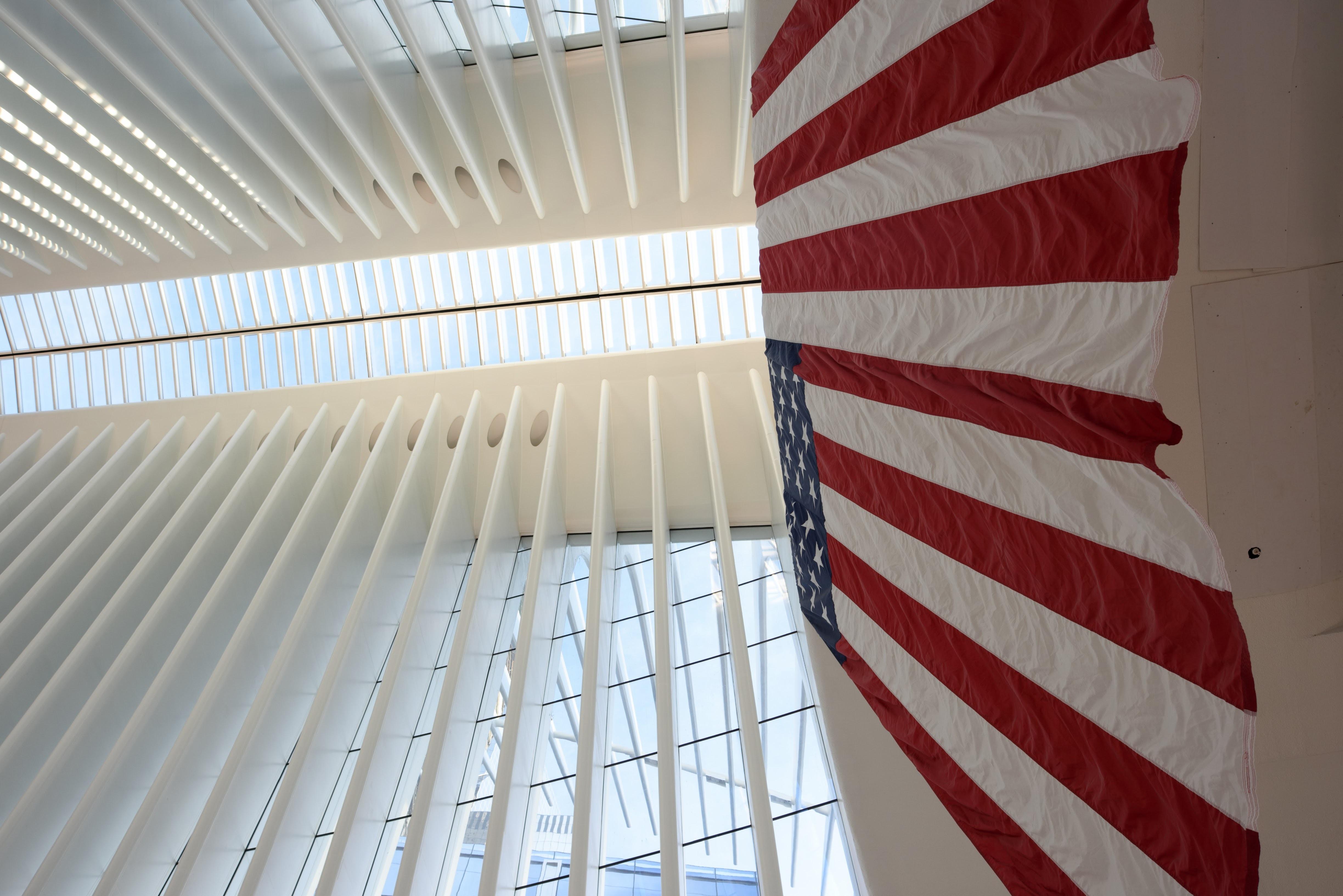 USA flag on wall