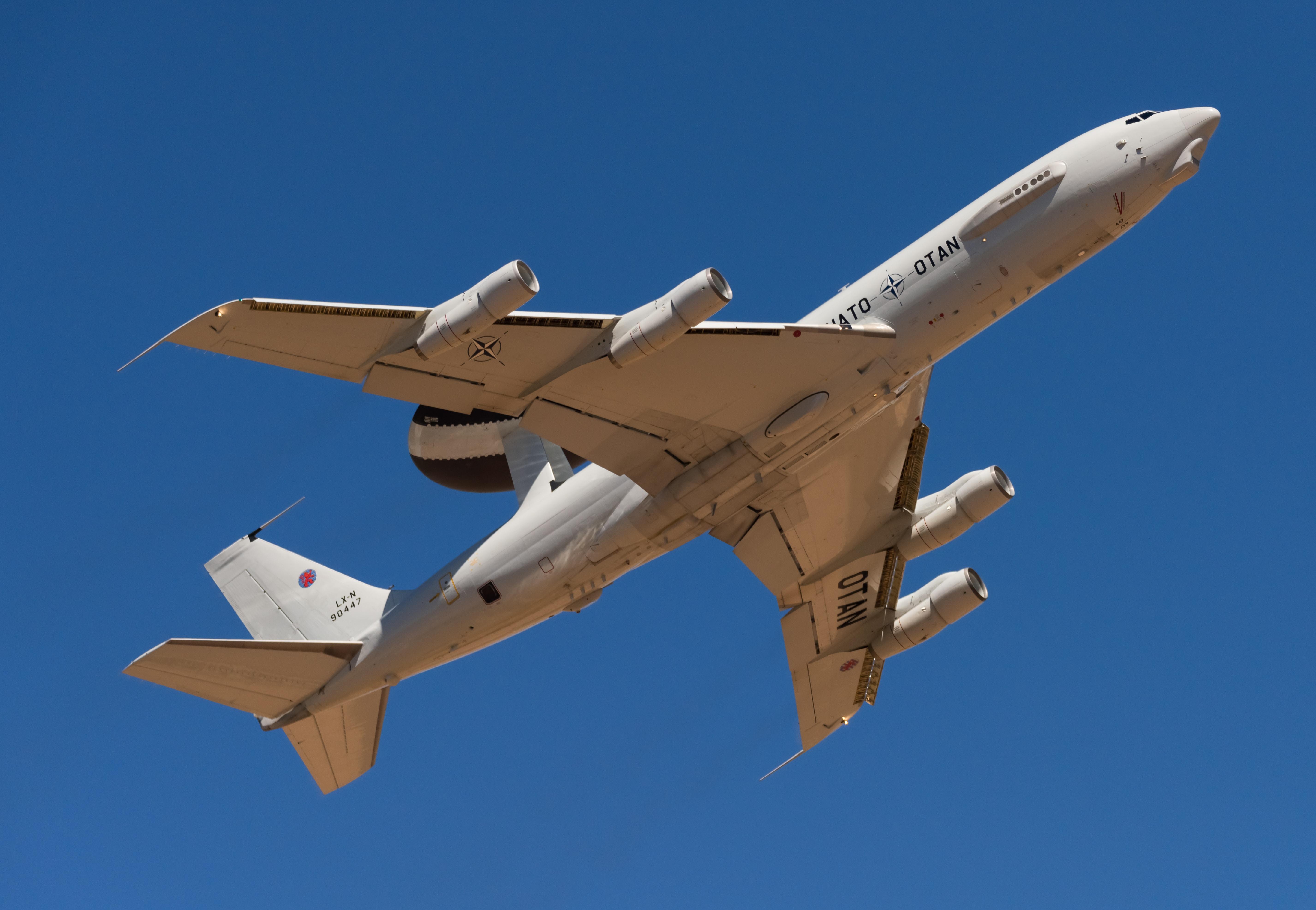airliner flies on sky