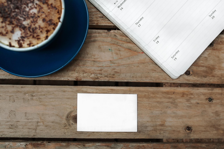 white blank paper near soup bowl
