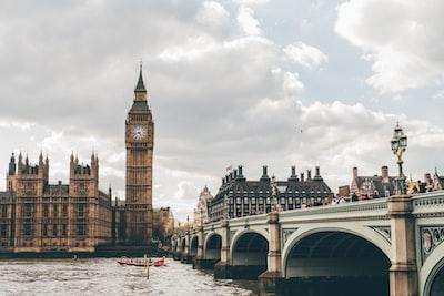 photo of elizabeth tower, london london zoom background