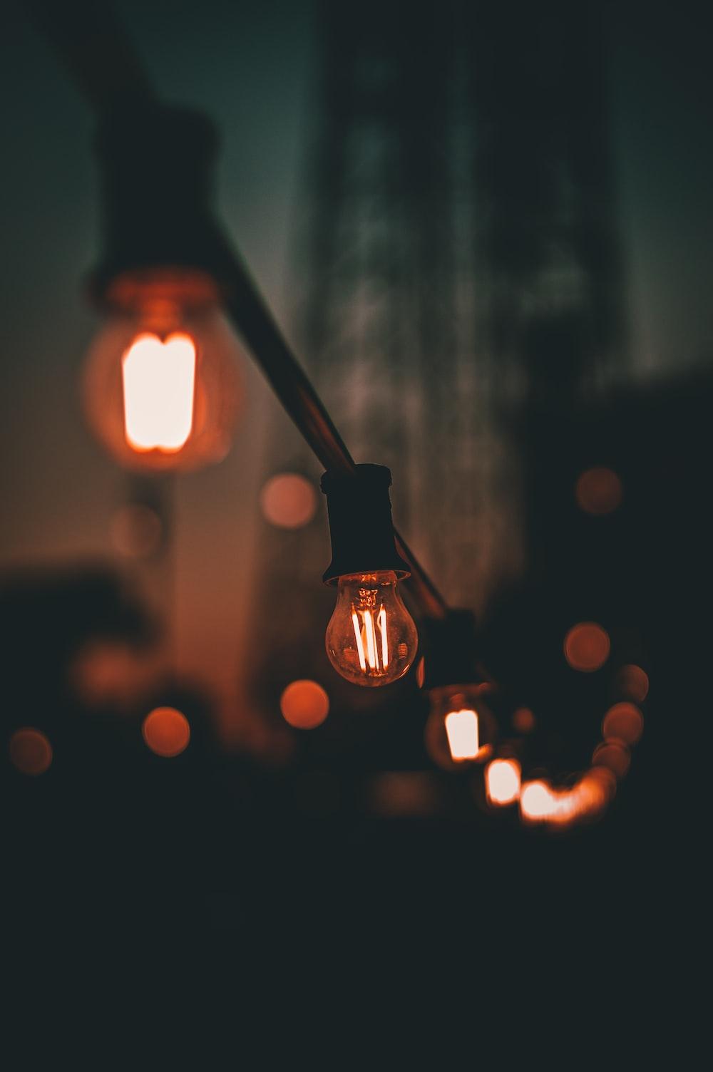 black string lights