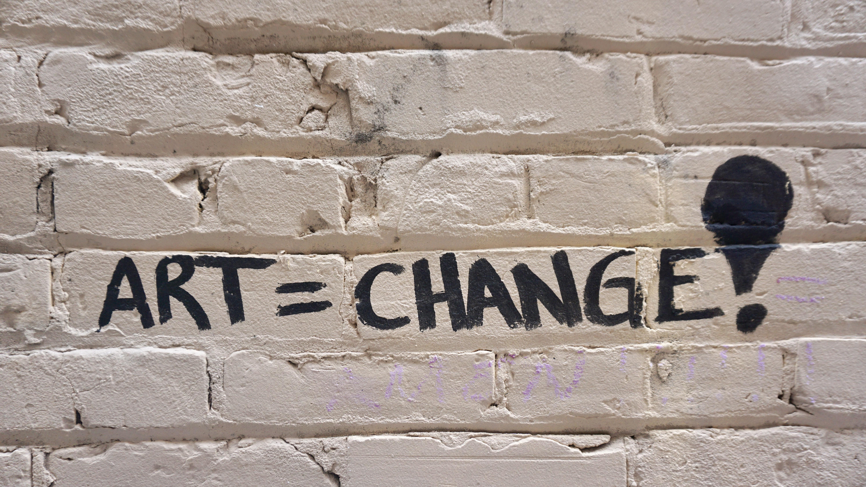 Art=Change signage