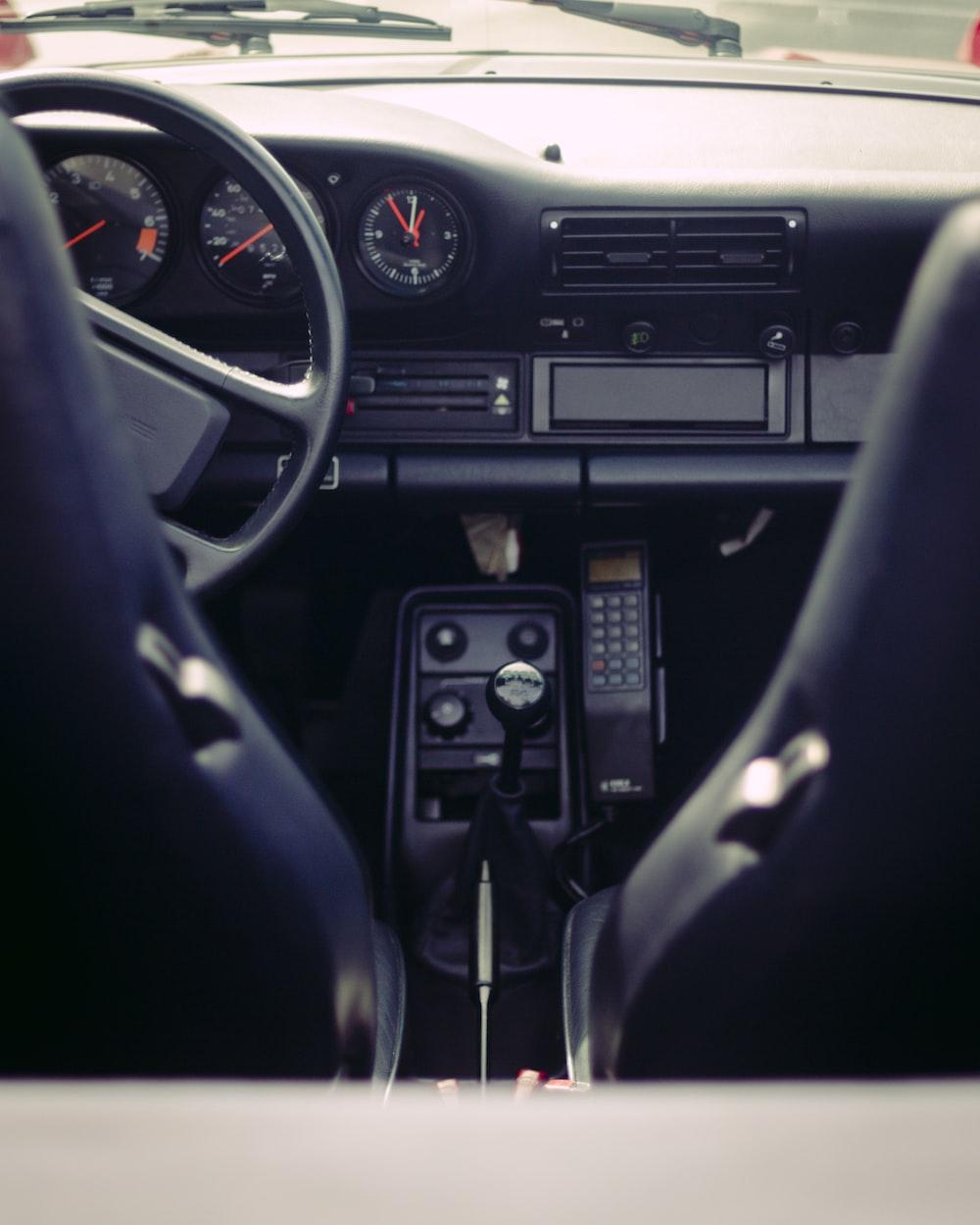 black vehicle interior