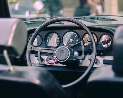 black vehicle stereo