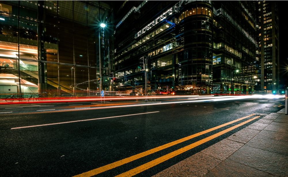 timelapse photography of city light during nighttime