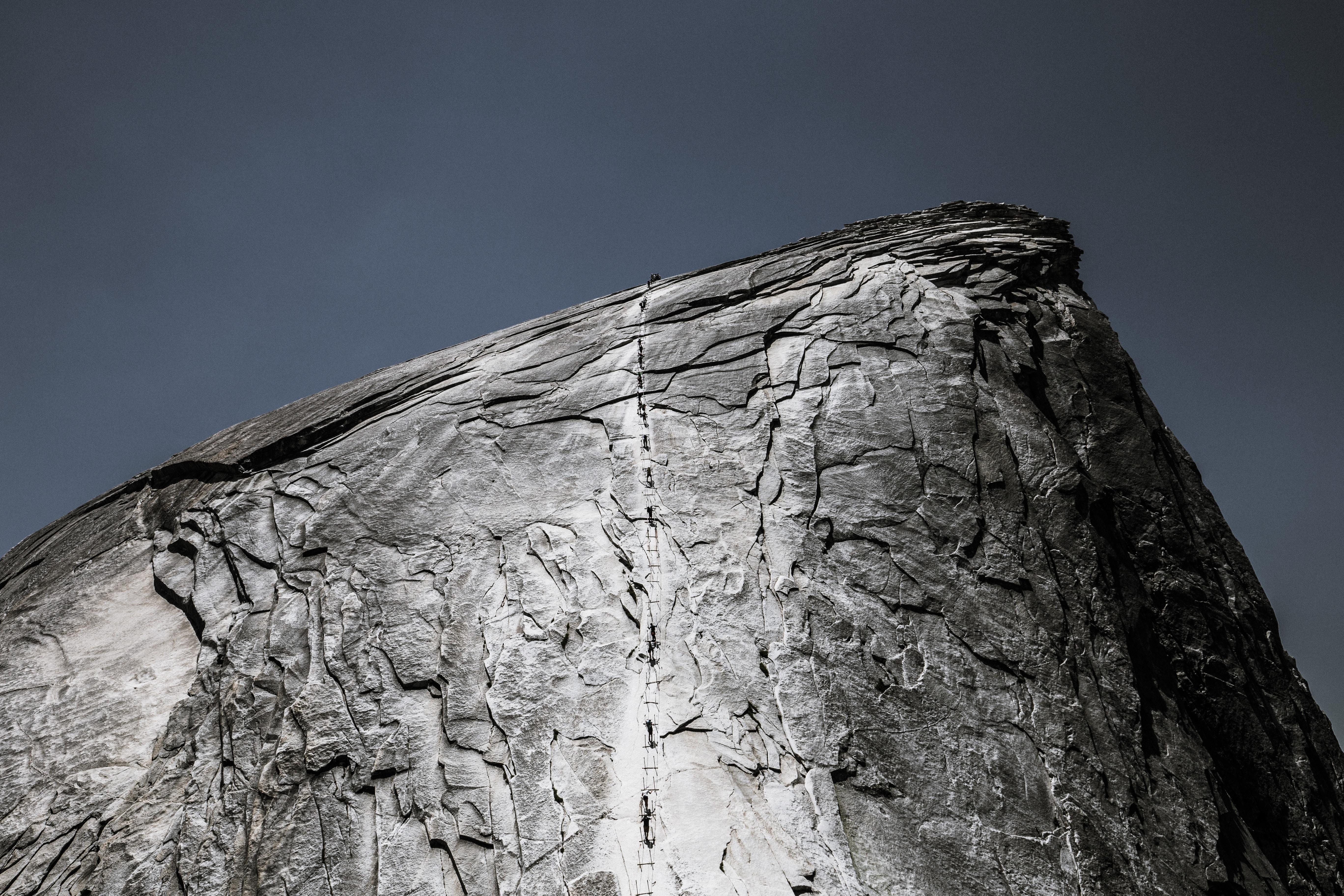 gray mountain cliff
