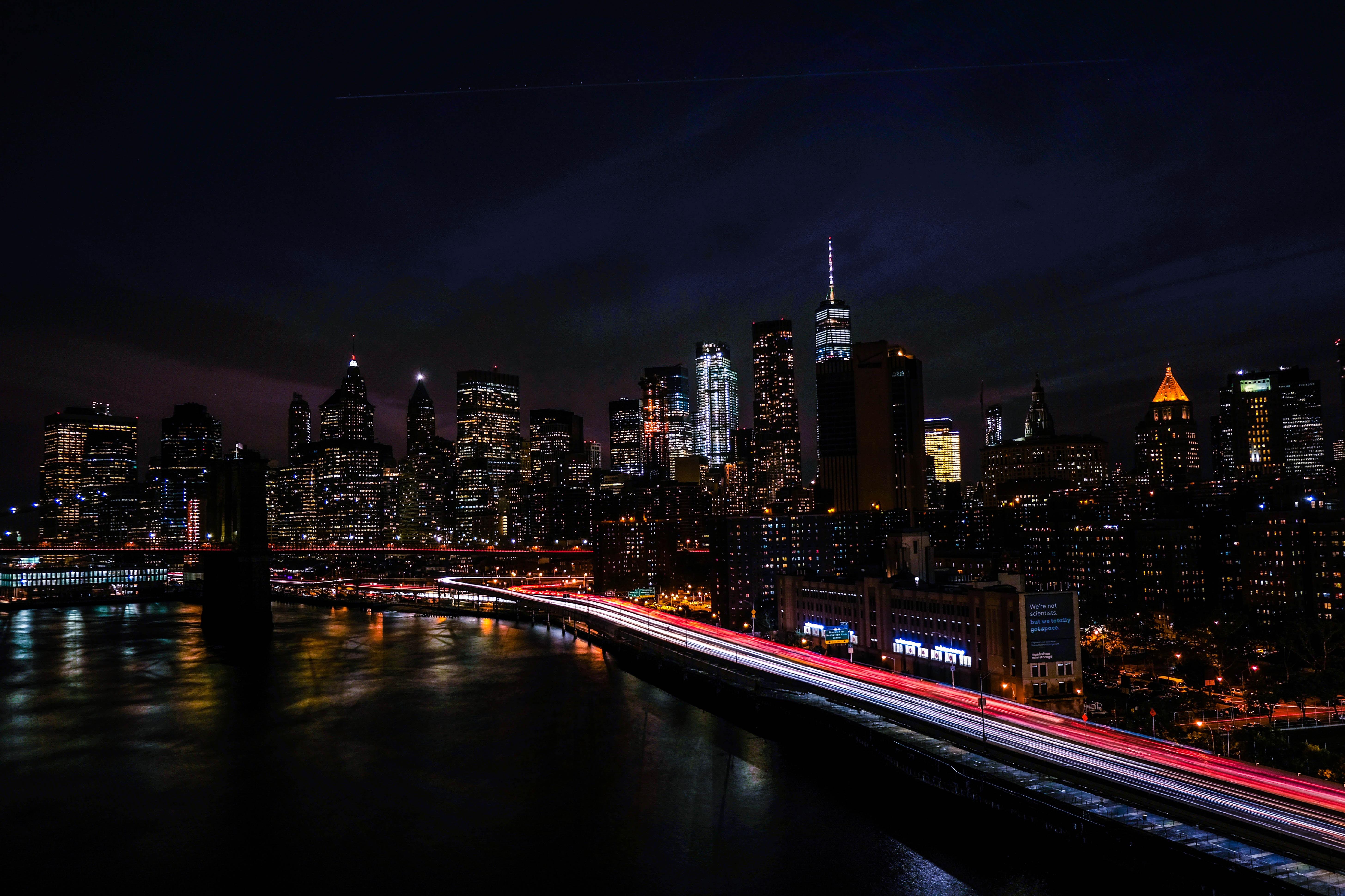 timelapse of city
