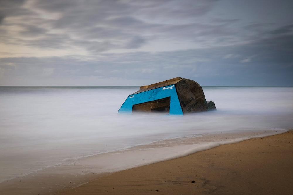 stone near the beach shoreline