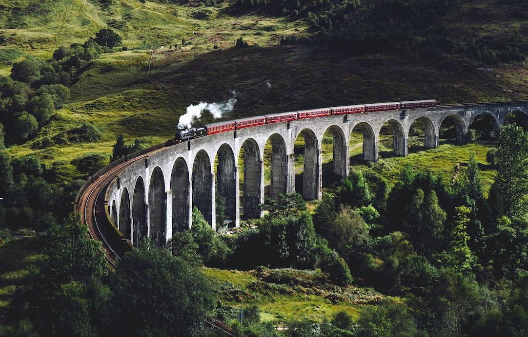 a train on the bridge