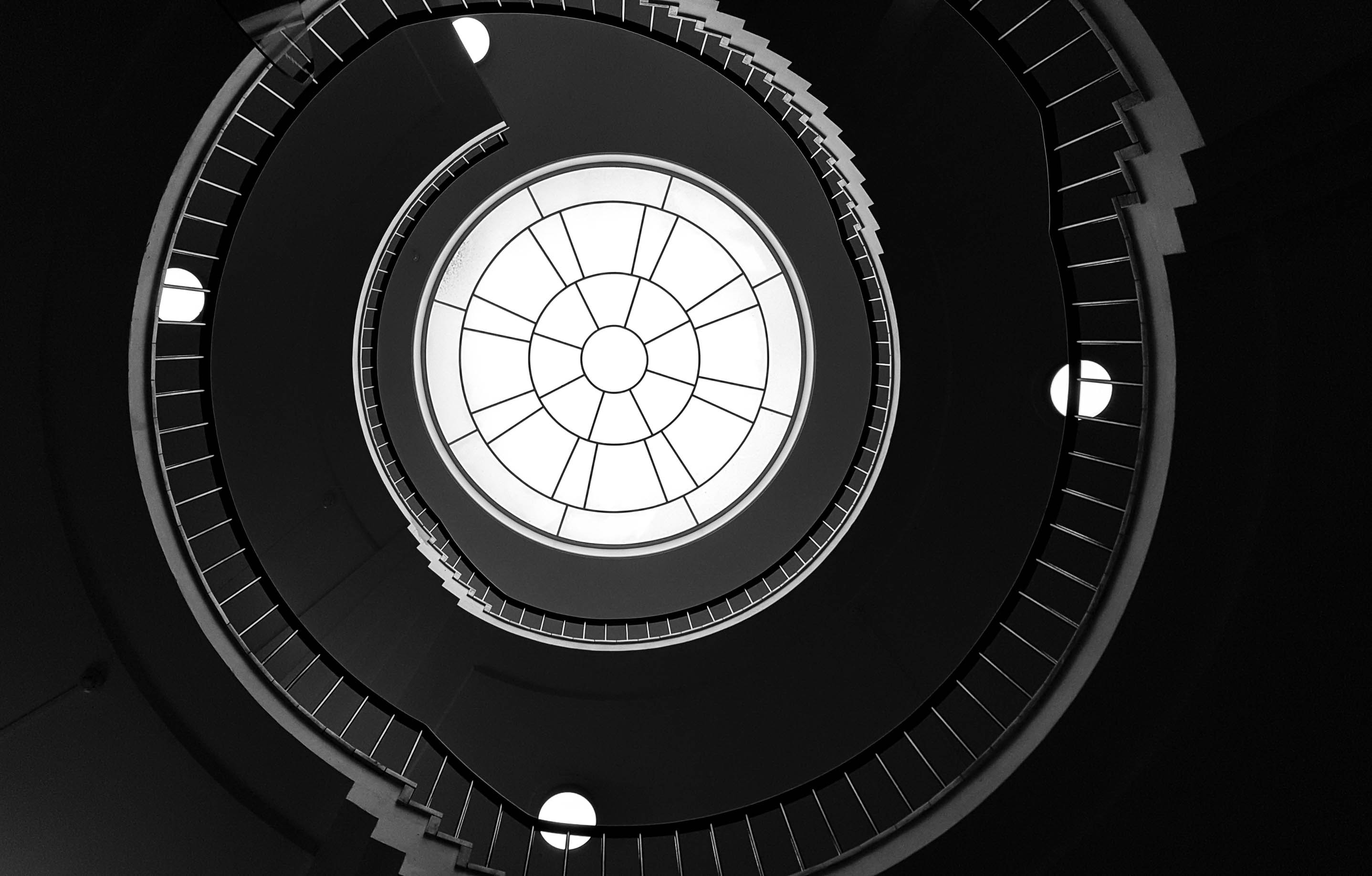 photo of spiral stair