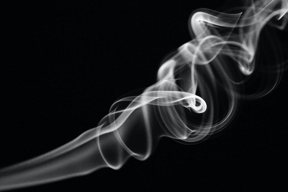 gray smoke digital wallpaper