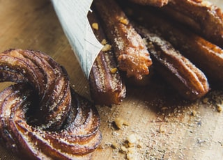 churros on chopping board