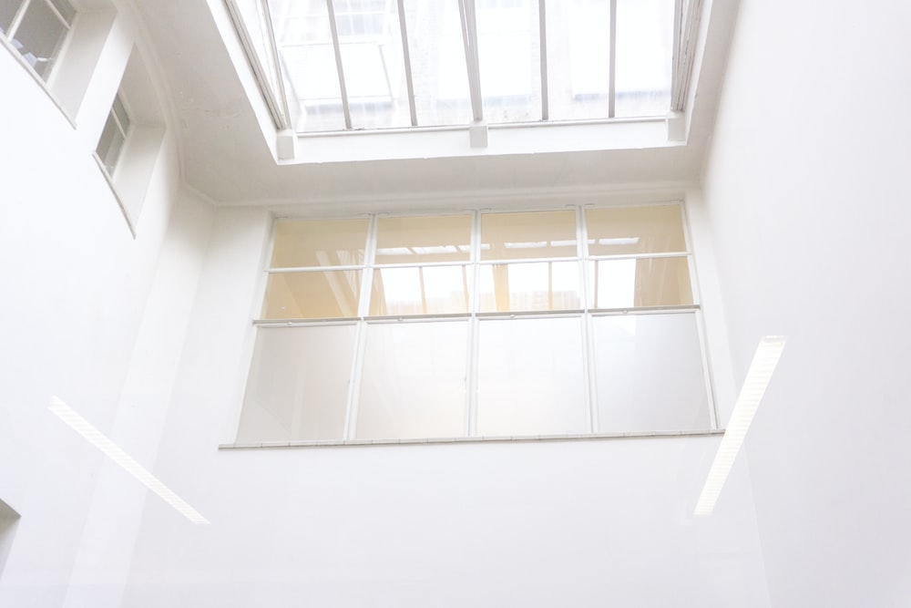 closed clear glass window