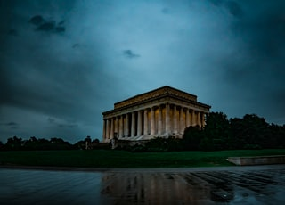 landmark under black sky