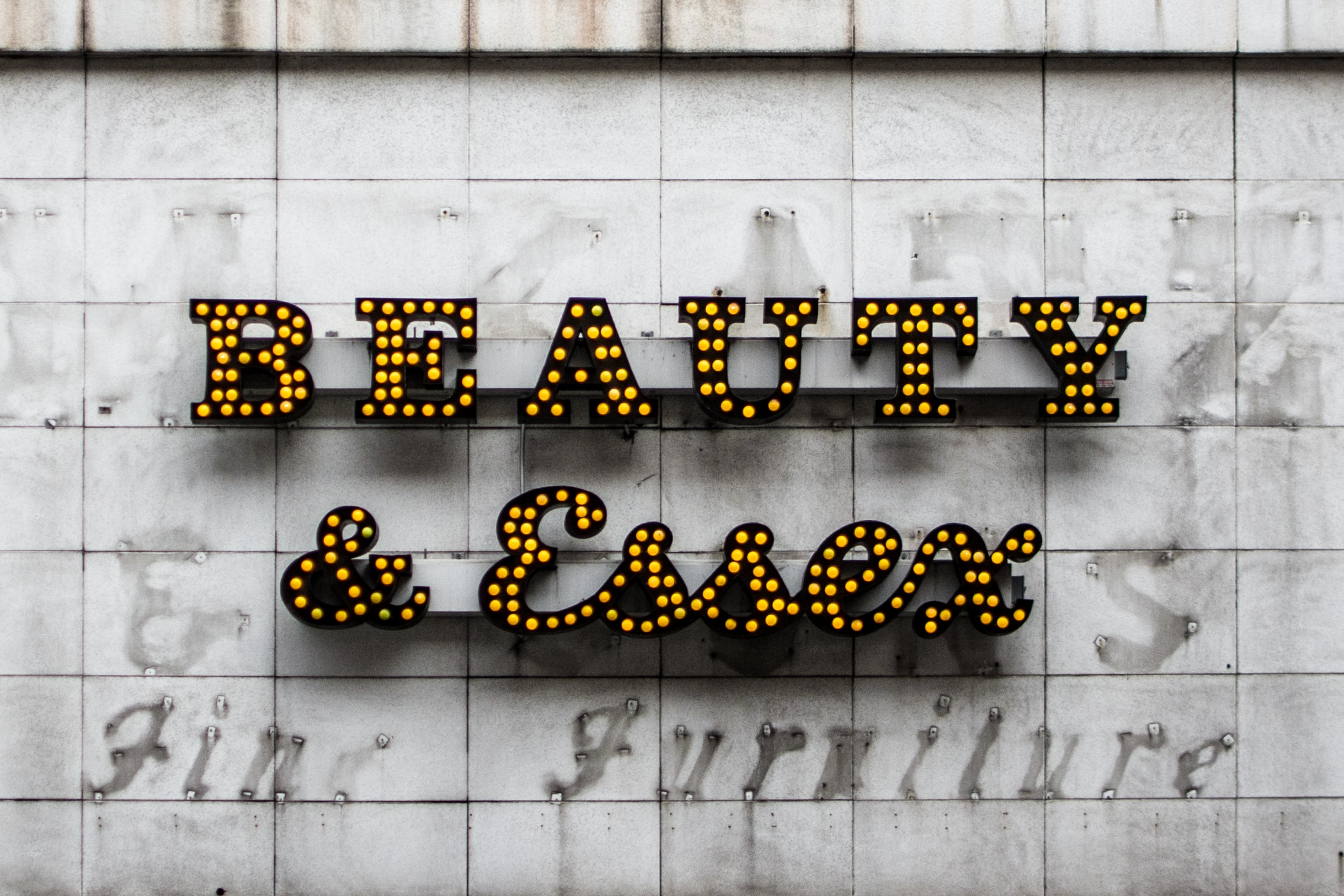 Beauty & Essex marquee signage