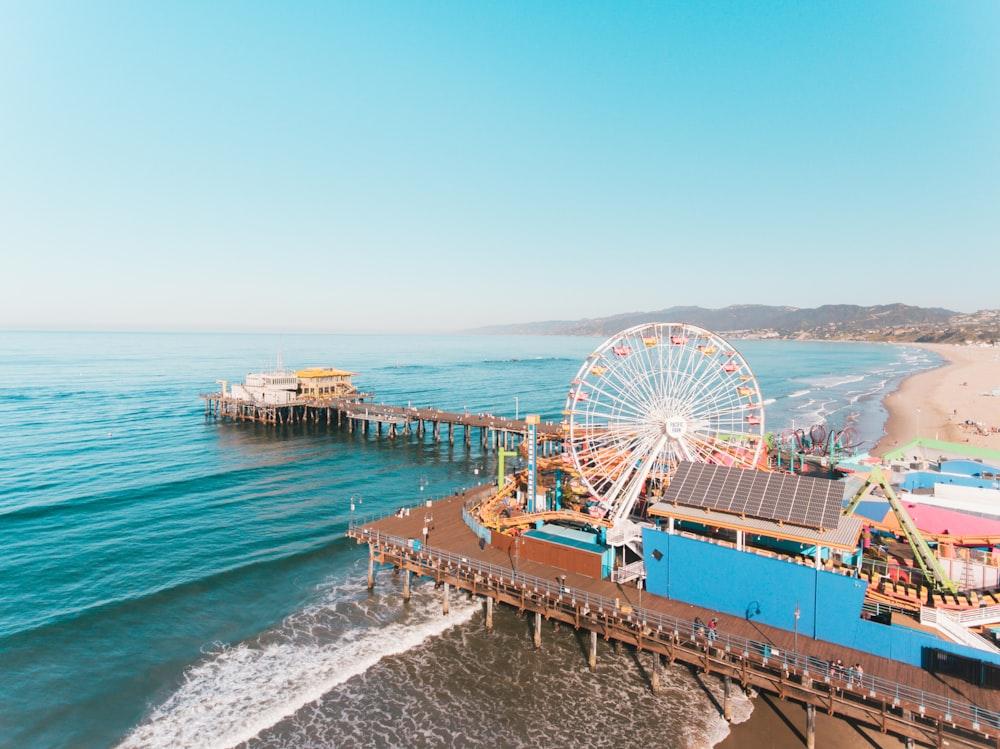 Ferris Wheel near body of water
