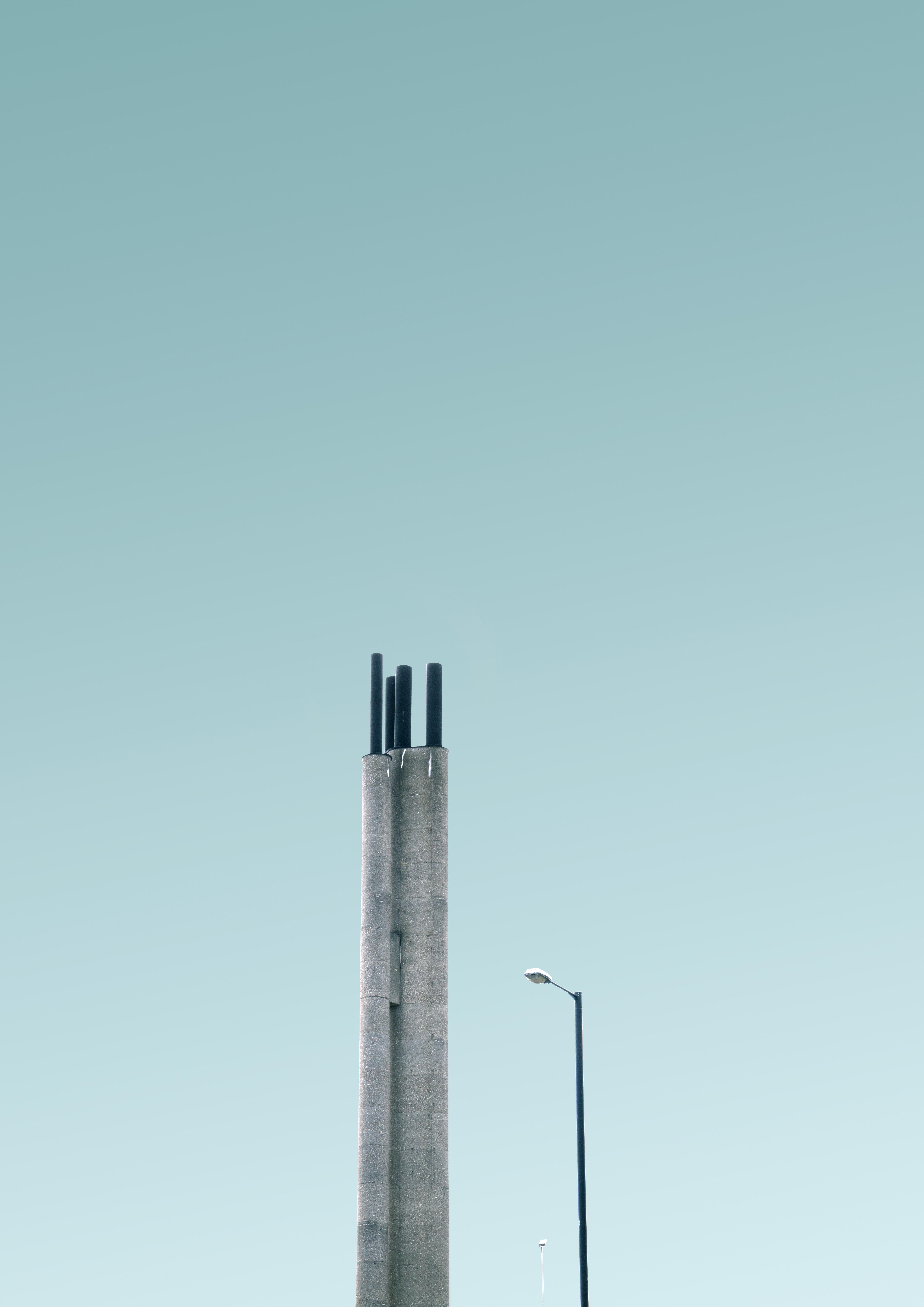 gray metal light post