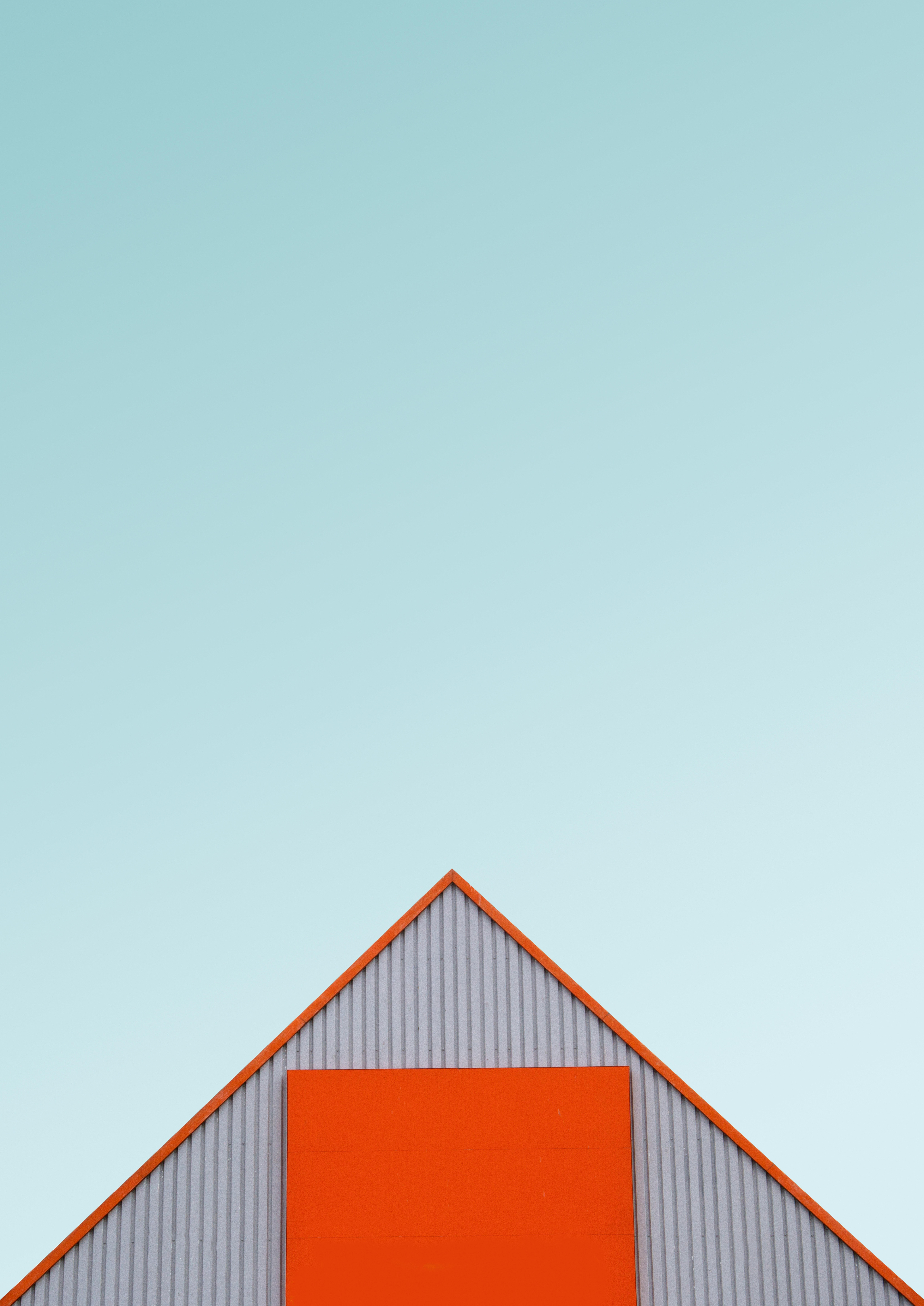 white and orange house roof