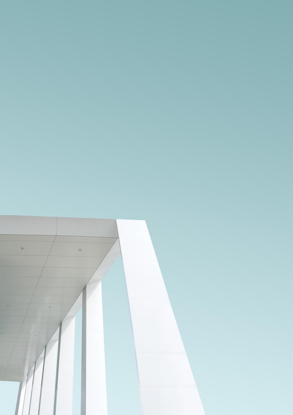 white architectural building