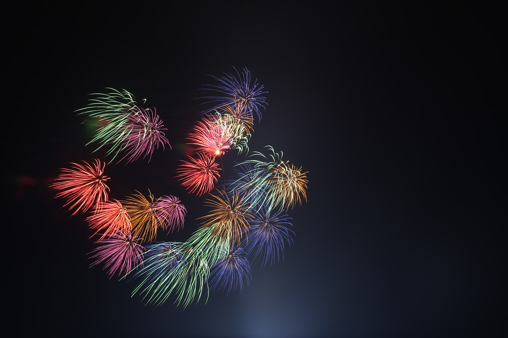 assorted-color fireworks at night time