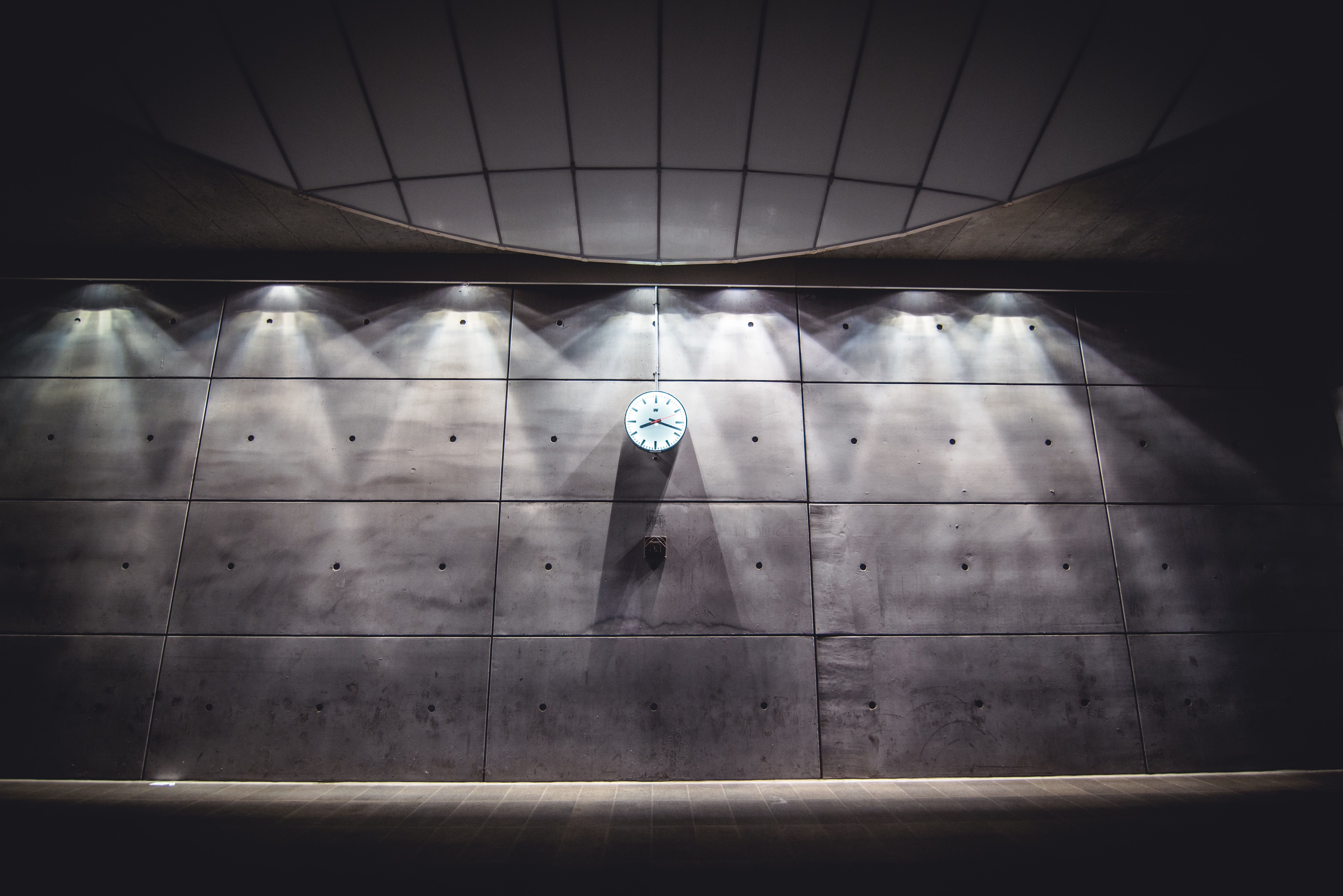 analog clock on wall