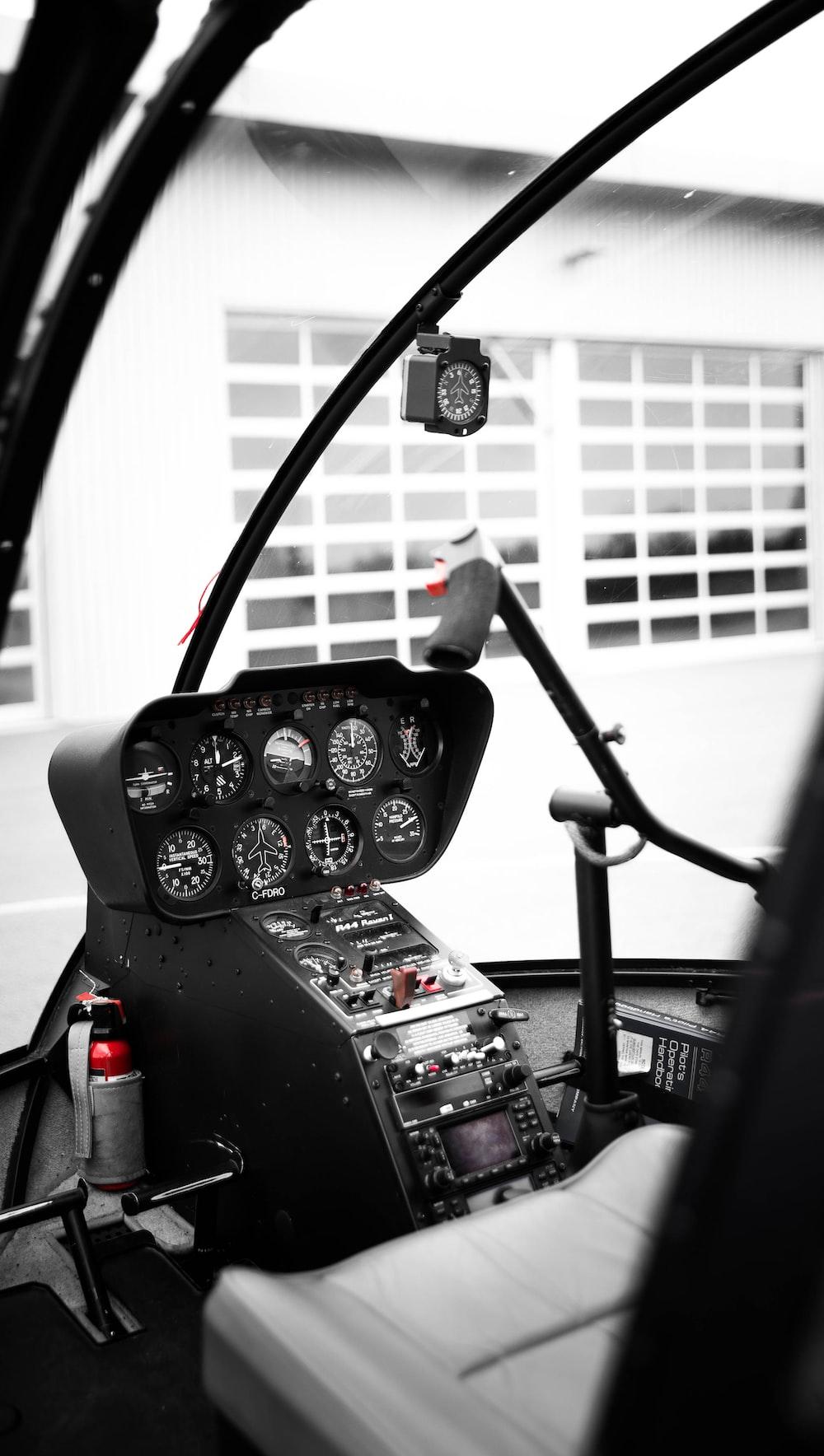 black cockpit helicopter