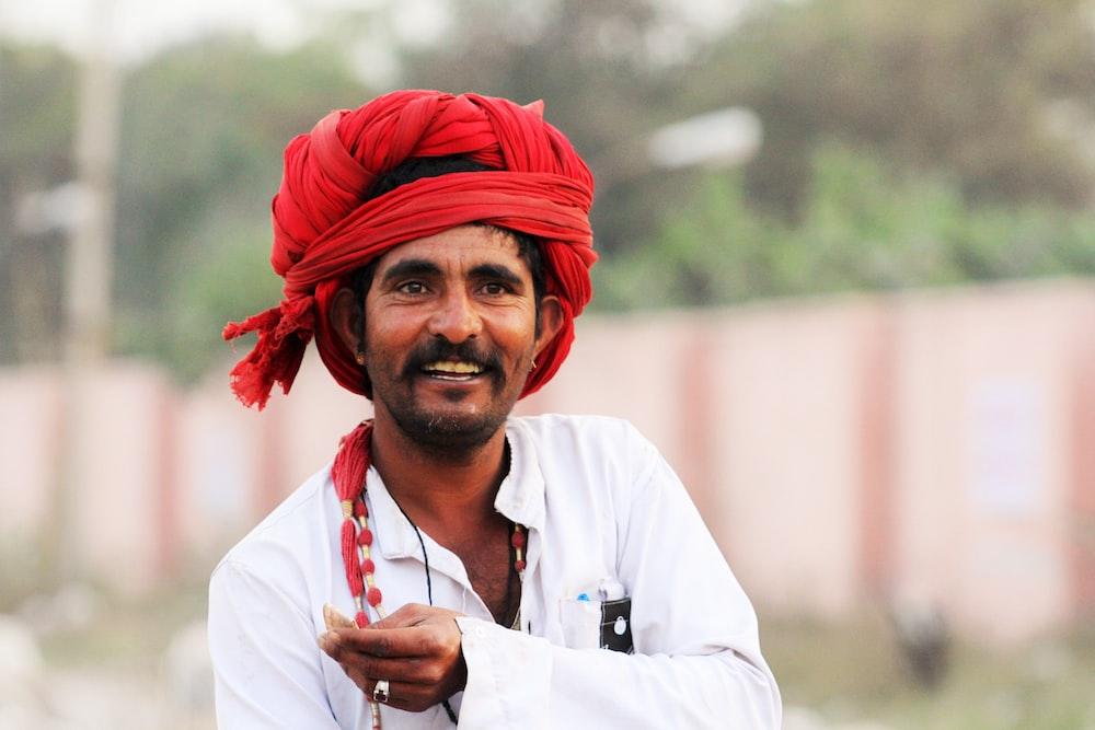 man wearing turban smiling